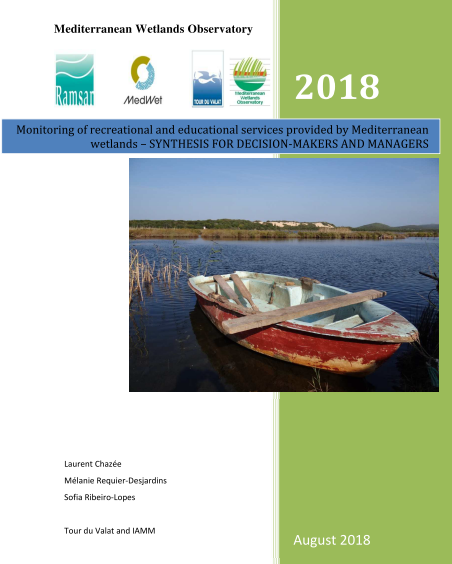 Monitoring of recreational and educational services provided by Mediterranean wetlands 2018