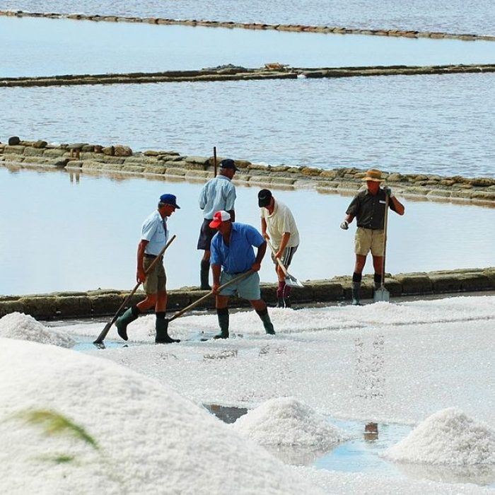 Trapani and Paceco salt ponds, photo by Click Gianluca, Wikimedia Commons