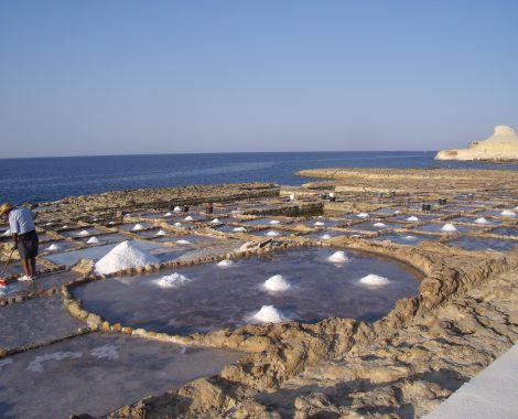 Xwejni Salt Pans in Gozo