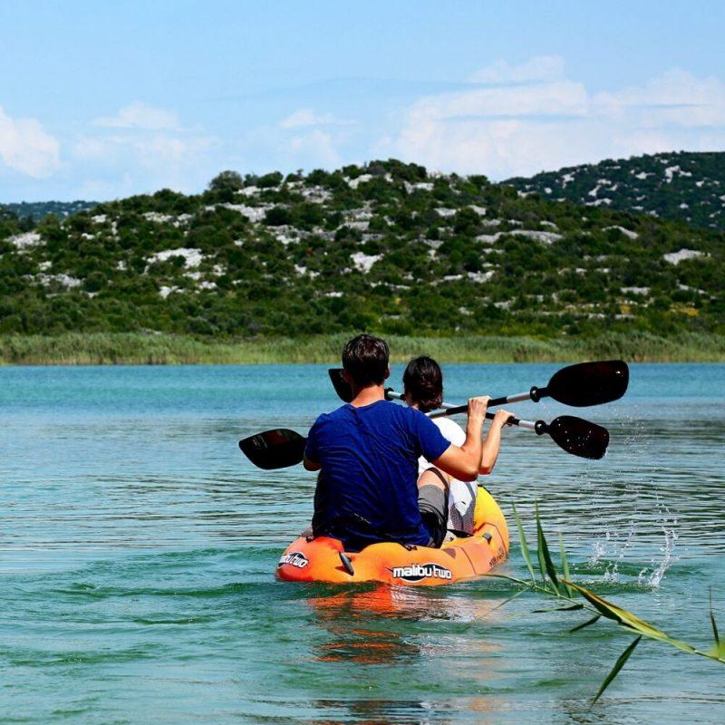 kayaking in Vransko Lake, photo credit JUPP Vransko jezero